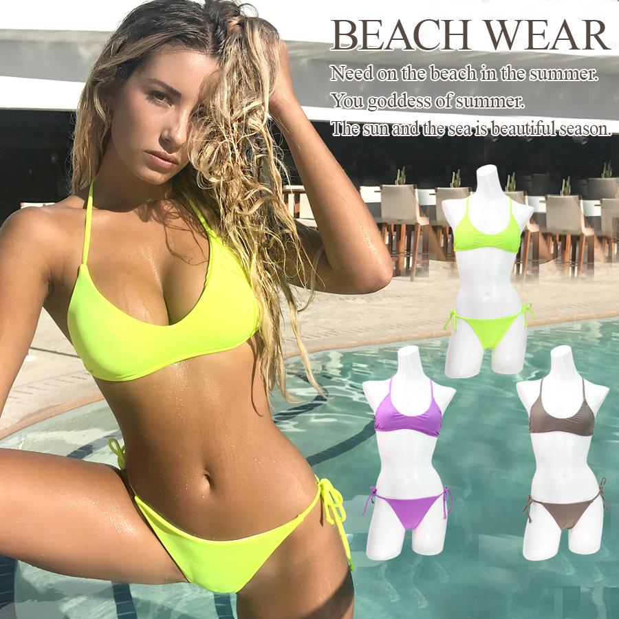 14e48a5a8 Nop Nop Rakuten Ichiba Ten: Simple surf bikini swimsuit Lady's ...