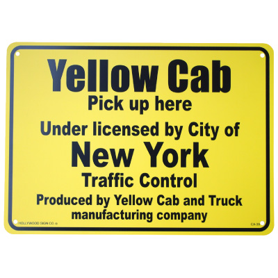 CA-39 Yellow Cab (NY taxi stand) (American miscellaneous goods interior  signboard signboard fashion outdoors indoor)