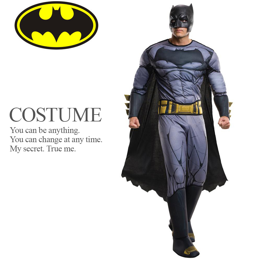 【送料無料】 【即納】 バットマン デラックス コスチューム BVS DCコミックス ライセンス 公式 アメコミ メンズ バットマン ジャスティスの誕生 ハロウィン コスプレ 衣装 コスチューム 【Rubie'sルービーズ】