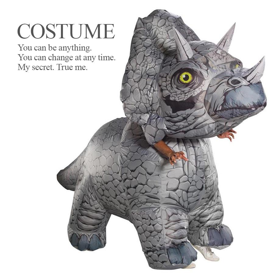 【即納】 大人用 インフレイタブル トリケラトプス ジュラシック ライセンス商品 メンズ 公式 怪獣 恐竜 ハロウィン コスプレ 衣装 コスチューム ルービーズ おもしろ 派手