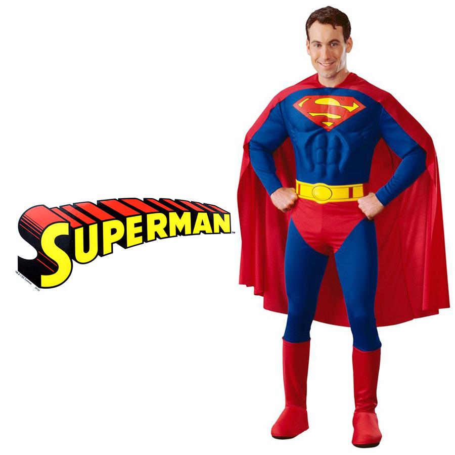 大人用デラックススーパーマン DCコミックス ライセンス 公式 アメコミ メンズ スーパーマン 仮装 演劇 ハロウィン コスプレ 衣装 コスチューム ヒーロー マッチョ