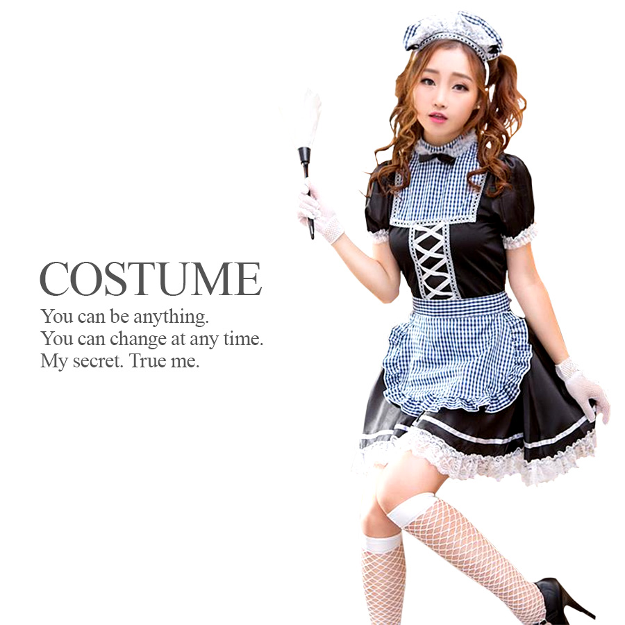 American Cute Maid (costume Halloween Clothes Maid French Waitress)