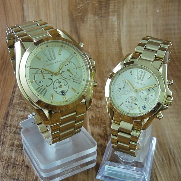 マイケルコース 時計 ペアウォッチ ブラッドショー クロノグラフ ゴールド MK5605MK5798 ブランド 一緒のプレゼント ペアセット 誕生日 お祝い 毎日使える ギフト