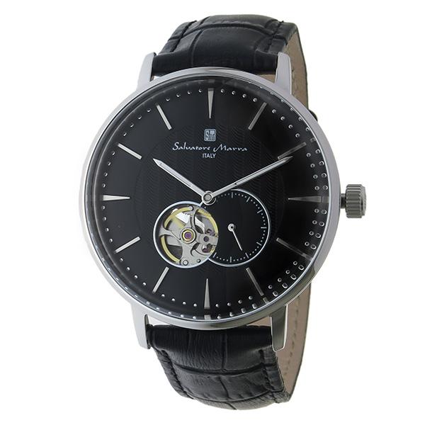 【キャッシュレス5%還元】国内正規品 サルバトーレマーラ 時計 メンズ 腕時計 ブラック クロコ レザー ブラック文字盤 自動巻き SM17114-SSBK ビジネス 男性 ブランド 時計 誕生日 お祝い プレゼント ギフト
