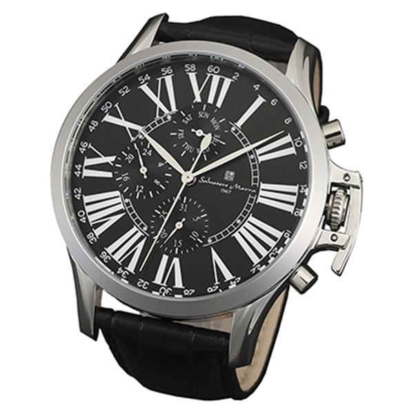 国内正規品 サルバトーレマーラ 時計 メンズ SM14123-SSBK ビジネス 男性 ブランド 時計 誕生日 お祝い プレゼント ギフト お洒落