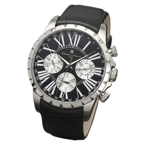 国内正規品 サルバトーレマーラ 時計 メンズ 腕時計 ブラック シルバー デイデイト SM15103-SSBK ビジネス 男性 ブランド 時計 誕生日 お祝い プレゼント ギフト お洒落