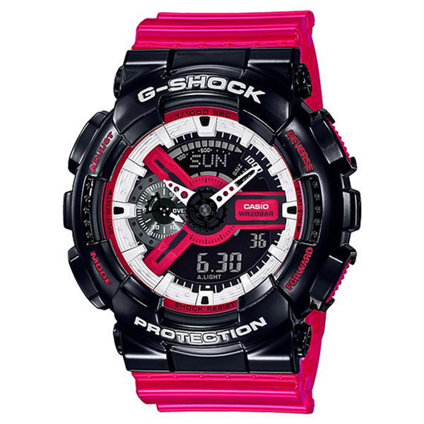 CASIO G-SHOCK Gショック ジーショック カシオ 腕時計 アナデジ デジタル&アナログ 多機能 ブラック×レッド 海外モデル GA-110RB-1A ビジネス ブランド 誕生日 お祝い プレゼント ギフト