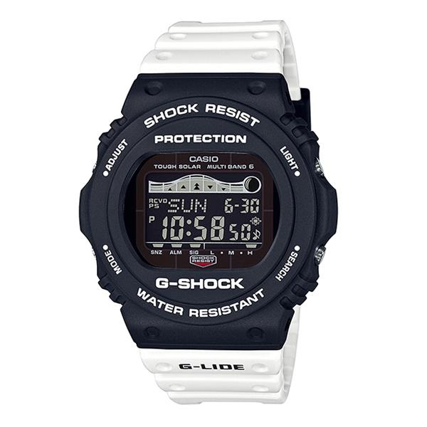 【海外モデル】CASIO Gショック ジーショック メンズ 腕時計 G-LIDE サーフィン 電波ソーラー 電波受信 多機能 防水 GWX-5700SSN-1 ビジネス 男性 ブランド 誕生日 お祝い プレゼント ギフト