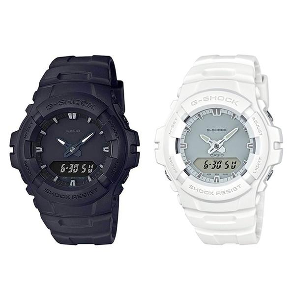 カシオ G-SHOCK Gショック ジーショック ペアウォッチ シェア 腕時計 カップルおすすめ 強い耐久性 同じモデル2本 アナデジ 白黒 モノクロ G-100BB-1AG-100CU-7A ブランド 男女 カップル ペアセット 誕生日 お祝い プレゼント ギフト