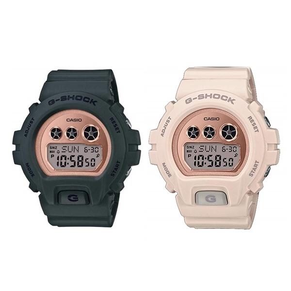 【海外モデル】カシオ G-SHOCK ペアウォッチ 腕時計 Gショック ジーショック Sシリーズ カーキ ピンク メンズ レディース おそろい とけい GMD-S6900MC-3GMD-S6900MC-4 ブランド 男女 カップル ペアセット 誕生日 お祝い プレゼント ギフト お洒落
