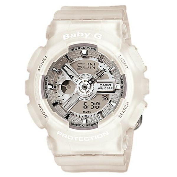 【キャッシュレス5%還元】CASIO Baby-G ベビーG ベビージー カシオ レディース 腕時計 アナデジ グレー×ホワイト 10気圧防水 海外モデル BA-110-7A2 ビジネス 女性 ブランド 誕生日 お祝い プレゼント ギフト