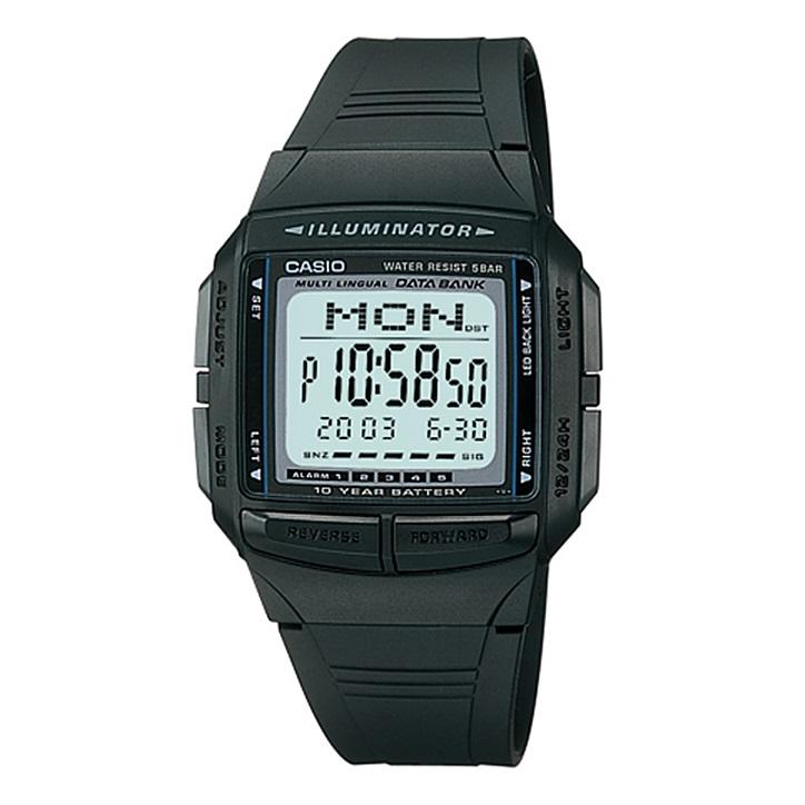 国内正規品 メーカー1年間保証付き カシオ 時計 メンズ レディース ユニセックス 腕時計 データバンク ブラック DB-36-1AJF ビジネス 男性 ブランド 誕生日 お祝い プレゼント ギフト お洒落