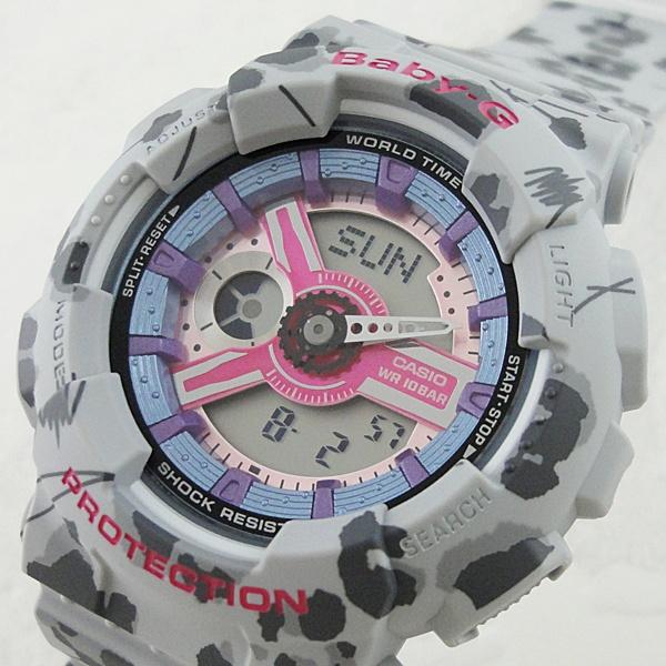 国内正規品 カシオ Baby-G ベビーG 時計 レディース 腕時計 フラワーレオパード 10気圧防水 BA-110FL-8AJF ビジネス 女性 ブランド 誕生日 お祝い プレゼント ギフト お洒落