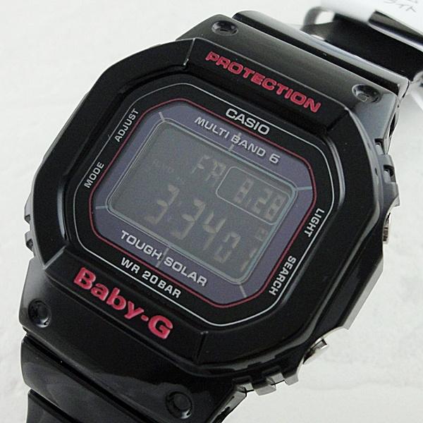 国内正規品 カシオ Baby-G ベビーG 時計 レディース 腕時計 電波ソーラー デジタル ブラック BGD-5000-1JF ビジネス 女性 ブランド 誕生日 お祝い プレゼント ギフト お洒落