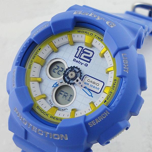 国内正規品 カシオ Baby-G ベビーG 時計 レディース 腕時計 アナログデジタル ブルー BA-120-2BJF ビジネス 女性 ブランド 誕生日 お祝い プレゼント ギフト お洒落