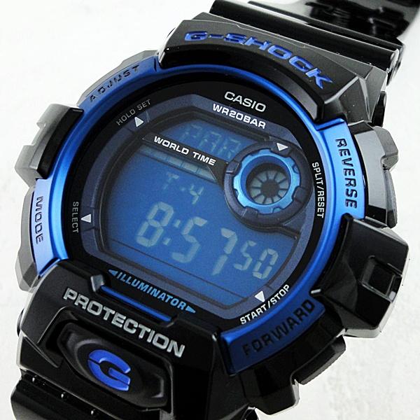 国内正規品 カシオ Gショック 時計 メンズ 腕時計 20気圧防水 デジタル ブラック ブルー G-8900A-1JF ビジネス 男性 ブランド 誕生日 お祝い プレゼント ギフト お洒落