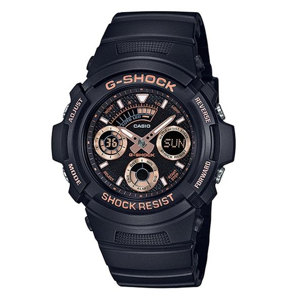 国内正規品 カシオ Gショック 時計 メンズ 腕時計 アナデジ 多機能 ローズゴールド ブラック 20気圧防水 AW-591GBX-1A4JF ビジネス 男性 ブランド 誕生日 お祝い プレゼント ギフト お洒落