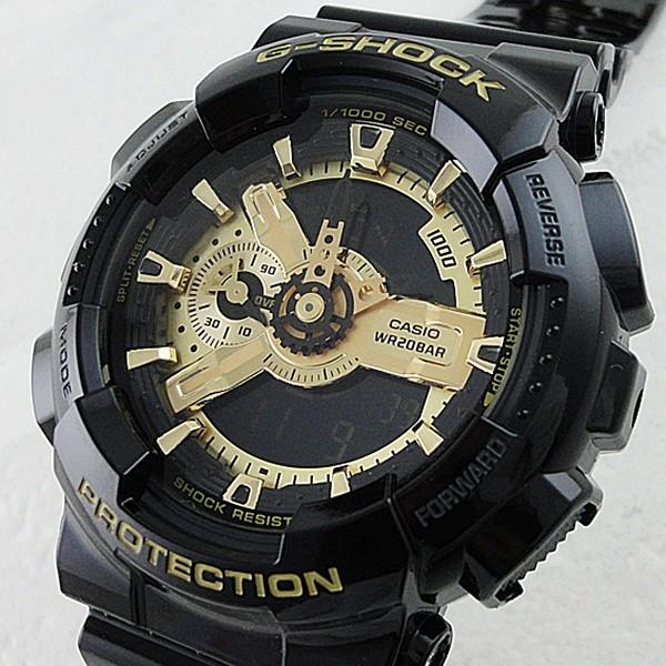 国内正規品 CASIO G-SHOCK G-STEEL Gショック ジーショック カシオ 時計 メンズ 腕時計 アナデジ 多機能 ブラック×ゴールドシリーズ GA-110GB-1AJF ビジネス 男性 ブランド 誕生日 お祝い プレゼント ギフト お洒落