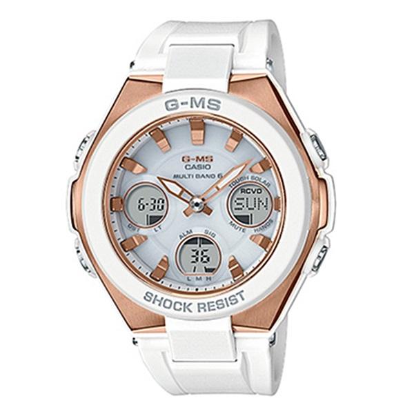 国内正規品 カシオ Baby-G ベビーG ベビージー レディース 腕時計 高級ライン アナデジ 高機能 ホワイト MSG-W100G-7AJF ビジネス 女性 ブランド 誕生日 お祝い プレゼント ギフト お洒落