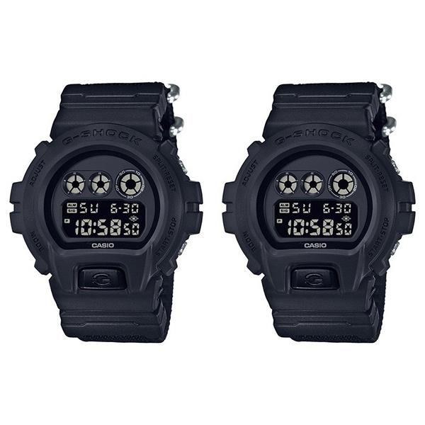 カシオ G-SHOCK ジーショック 腕時計 ペアウォッチ デジタル 多機能 ブラック 布 ナイロン 20気圧防水 DW-6900BBN-1DW-6900BBN-1 ブランド 男女 カップル ペアセット 誕生日 お祝い プレゼント ギフト お洒落