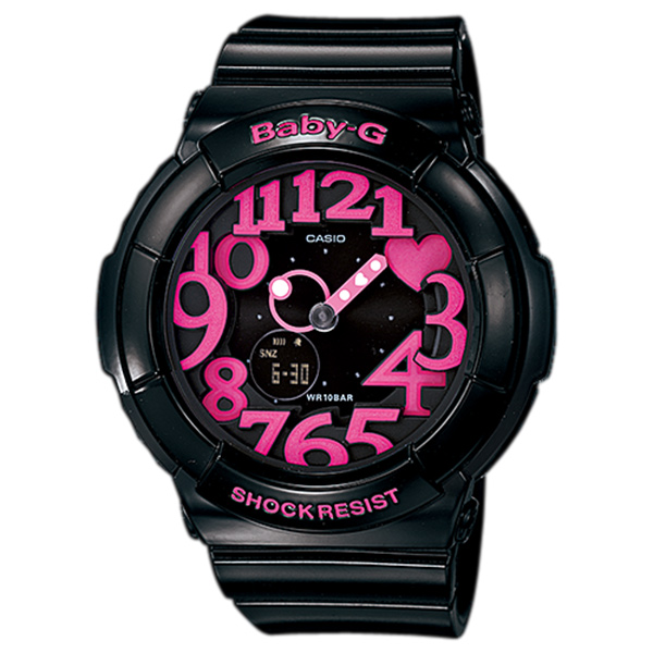 カシオ 時計 レディース 腕時計 ベビーG BABY-G ベビージー アナデジ 多機能 ブラック×ピンク 10気圧防水 BGA-130-1B ビジネス 女性 ブランド 誕生日 お祝い プレゼント ギフト お洒落