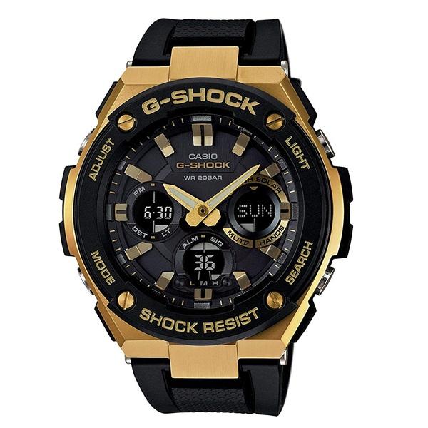 カシオ 時計 メンズ 腕時計 Gショック G-SHOCK ジーショック G-STEEL Gスチール アナデジ タフソーラー 多機能 ブラック×ゴールド 20気圧防水 GST-S100G-1A ビジネス 男性 ブランド 誕生日 お祝い プレゼント ギフト お洒落