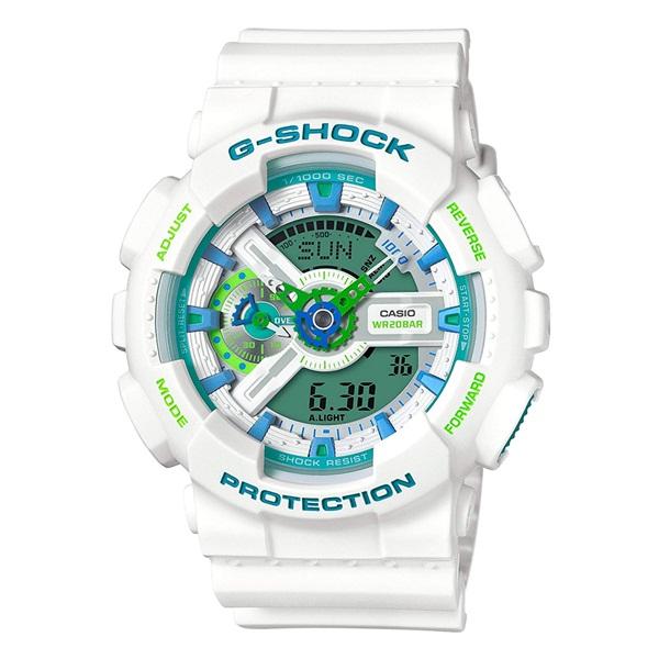 CASIO G-SHOCK Gショック ジーショック カシオ 時計 メンズ 腕時計 SPECIAL COLOR アナデジ ミントグリーン×ターコイズブルー ホワイト 20気圧防水 海外モデル GA-110WG-7A ビジネス 男性 ブランド 誕生日 お祝い プレゼント ギフト お洒落