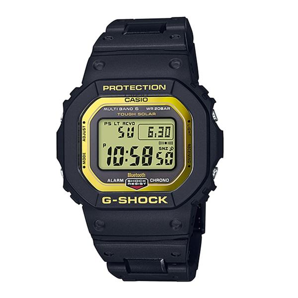 国内正規品 メーカー1年間保証付き カシオ Gショック メンズ 腕時計 ソーラー電波時計 Bluetooth搭載 デジタル 黒 ブラック&イエロー GW-B5600BC-1JF ビジネス 男性 ブランド 誕生日 お祝い プレゼント ギフト お洒落