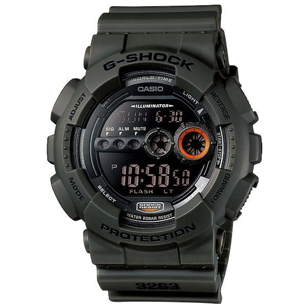 人気モデル! スポーツ・アウトドアにも最適! カシオ 時計 メンズ 腕時計 Gショック G-SHOCK デジタル 多機能 カーキグリーン GD-100MS-3 ビジネス 男性 ブランド 誕生日 お祝い プレゼント ギフト