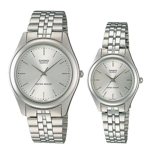 希少逆輸入 カシオ ペアウォッチ 腕時計 パーカー メンズ レディース シルバー MTP-1129A-7A LTP-1129A-7A ブランド 男女 カップル ペアセット 誕生日 お祝い プレゼント ギフト