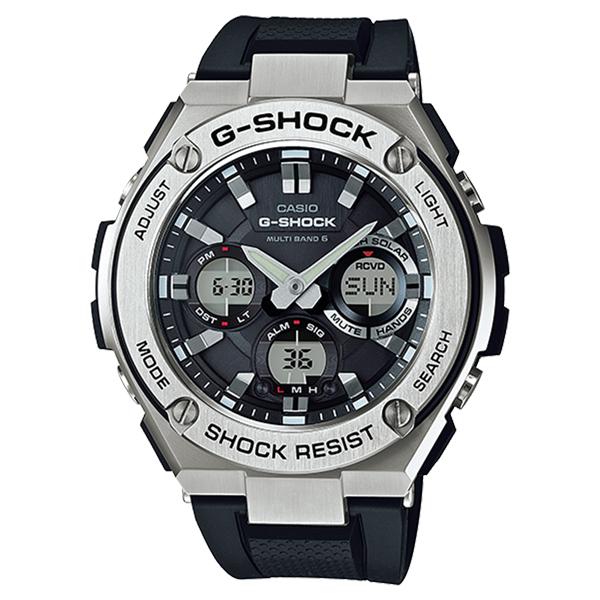 CASIO G-SHOCK Gショック ジーショック カシオ メンズ 腕時計 アナデジ 電波ソーラー シルバー×ブラック 海外モデル GST-W110-1A ビジネス 男性 ブランド 誕生日 お祝い プレゼント ギフト お洒落