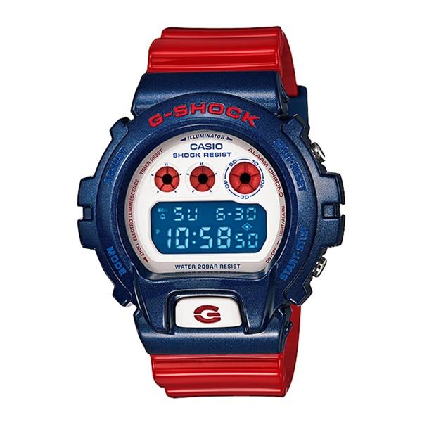 【海外モデル 希少カラー!】カシオ G-SHOCK ジーショック 腕時計 メンズ 個性的 ブルー&レッドシリーズ デジタル 防水 DW-6900AC-2 ビジネス 男性 ブランド 誕生日 お祝い プレゼント ギフト お洒落