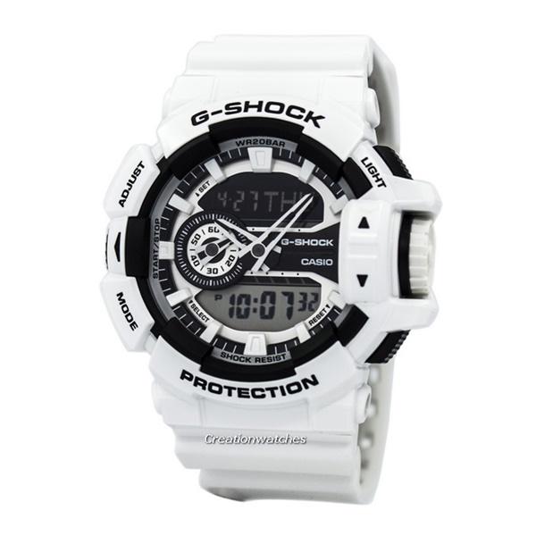 【海外モデル】カシオ Gショック メンズ 腕時計 ハイパーカラーズ アナデジ 白 ホワイト GA-400-7A ビジネス 男性 ブランド 誕生日 お祝い プレゼント ギフト お洒落