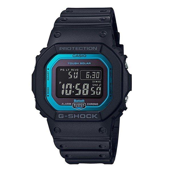 【海外モデル】カシオ Gショック メンズ 腕時計 ソーラー電波時計 Bluetooth搭載 デジタル 黒 ブラック&ブルー GW-B5600-2 ビジネス 男性 ブランド 誕生日 お祝い プレゼント ギフト お洒落