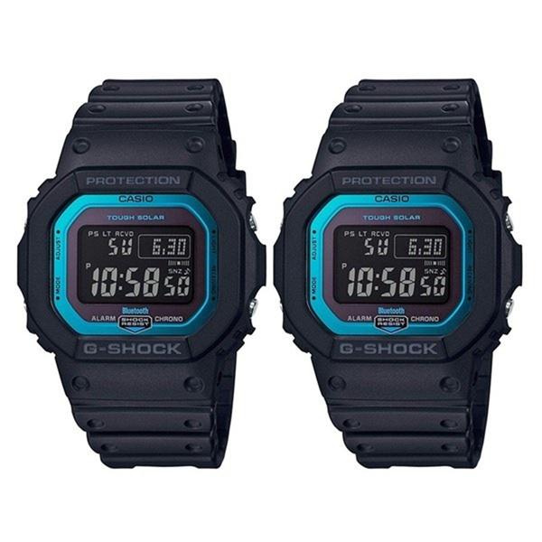 【ペア収納BOX付】カシオ ペアウォッチ 腕時計 Gショック ジーショック 同モデル 2本 自動受信 電波時計 デジタル ブラック&ブルー GW-B5600-2GW-B5600-2 ブランド 男女 カップル ペアセット 誕生日 お祝い プレゼント ギフト お洒落