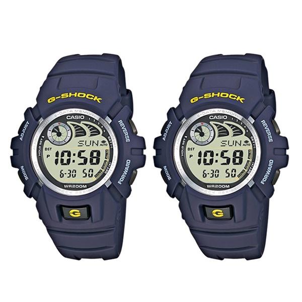 【海外モデル】カシオ ペアウォッチ 腕時計 Gショック ジーショック 同モデル 2本 10年電池機能 20気圧防水 デジタル 青 ブルー G-2900F-2G-2900F-2 ブランド 男女 カップル ペアセット 誕生日 お祝い プレゼント ギフト