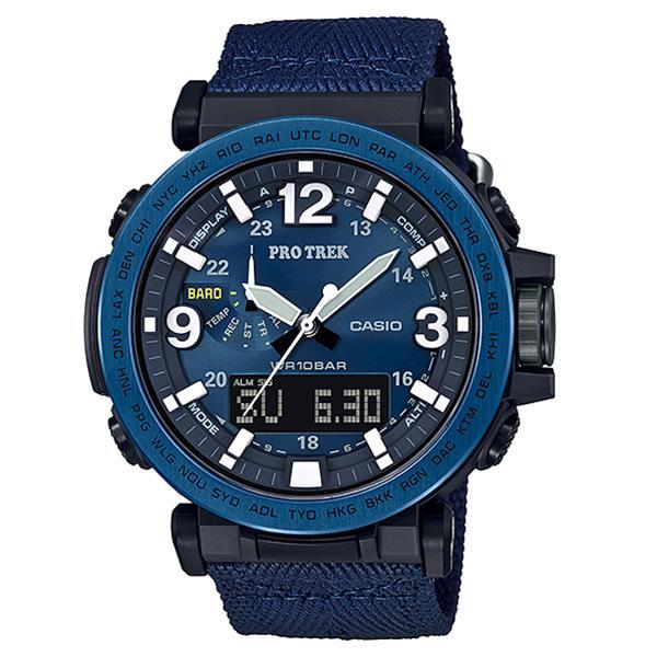 国内正規品 CASIO カシオ PRO TREK プロトレック 時計 メンズ レディース 腕時計 NAVY BLUE SERIES トリプルセンサー タフソーラー スマートアクセス アウトドア 小型 軽量 PRG-600YB-2JF ビジネス 男性 ブランド 誕生日 お祝い プレゼント ギフト お洒落