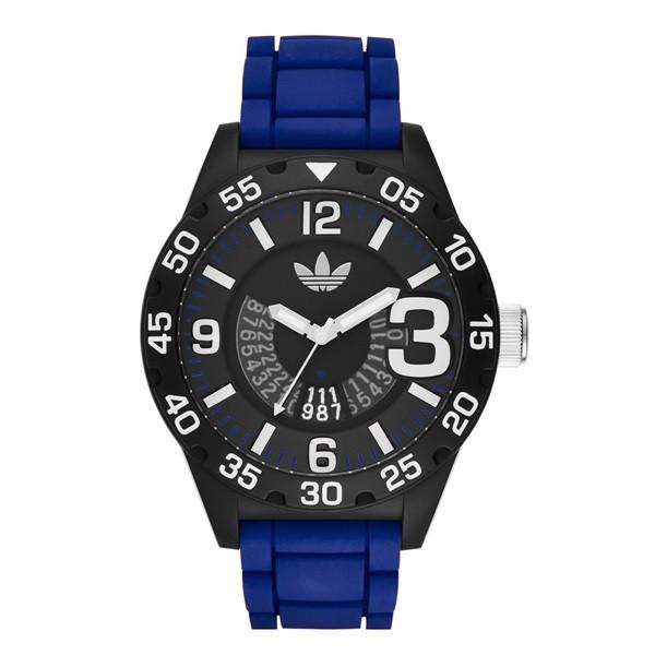アディダス オリジナルス 時計 メンズ レディース 腕時計 NEWBURGH ニューバーグ ブラック×ブルー ADH3112 ビジネス 男性 女性 ブランド 【仕事用】 誕生日 お祝い プレゼント ギフト お洒落