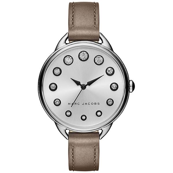 マークジェイコブス 時計 レディース 腕時計 ベティ ブラウン レザー シルバー クリスタル MJ1476 ビジネス 女性 ブランド プレゼント【仕事用】 誕生日 お祝い プレゼント ギフト お洒落