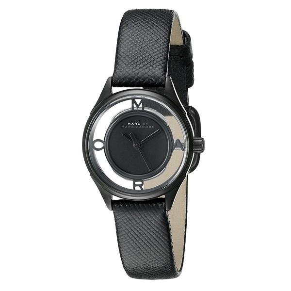 無料特典付き! マークジェイコブス 時計 レディース 腕時計 ティザー 25ミリ ブラック レザー ブラックケース MBM1384 ブランド 女性 【仕事用】 誕生日 お祝い プレゼント ギフト お洒落