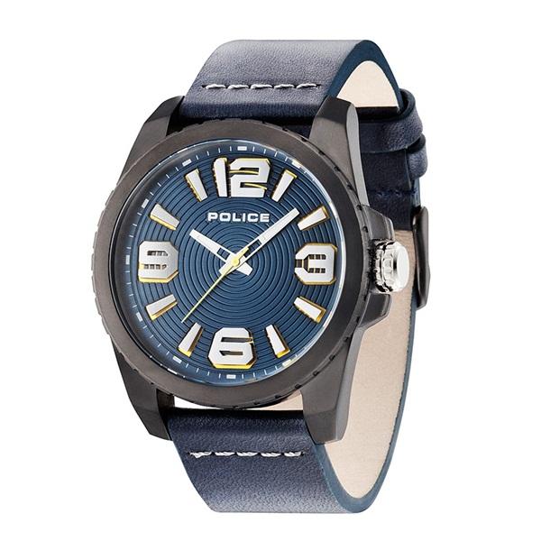 ポリス 時計 メンズ 腕時計 ビニール ブラックケース ダークブルー レザー PL14761JSU-03 ビジネス 男性 ブランド 時計 誕生日 お祝い プレゼント ギフト お洒落