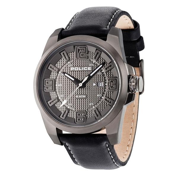 ポリス 時計 メンズ 腕時計 フォーカス グレー文字盤 ブラック レザー PL14762JSU-61 ビジネス 男性 ブランド 時計 誕生日 お祝い プレゼント ギフト お洒落
