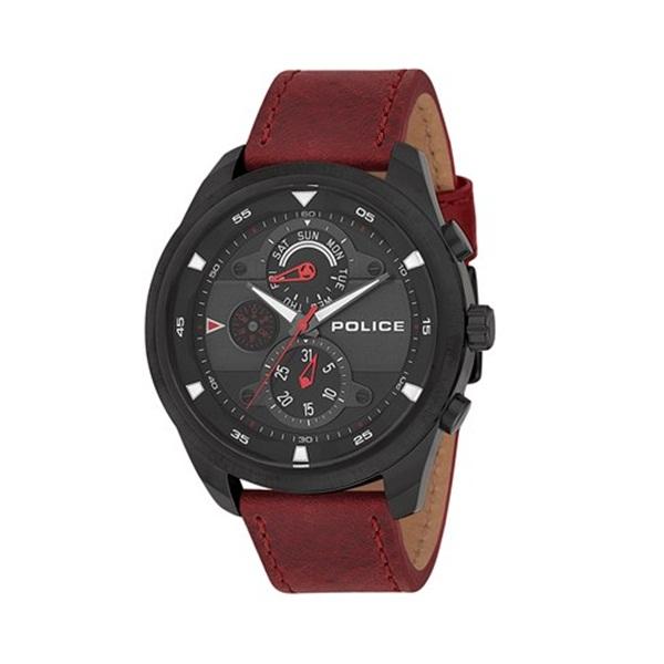 ポリス 時計 メンズ 腕時計 マルチファクション ブラックケース バーガンディ レザー PL14836JSB-02 ビジネス 男性 ブランド 時計 誕生日 お祝い プレゼント ギフト お洒落