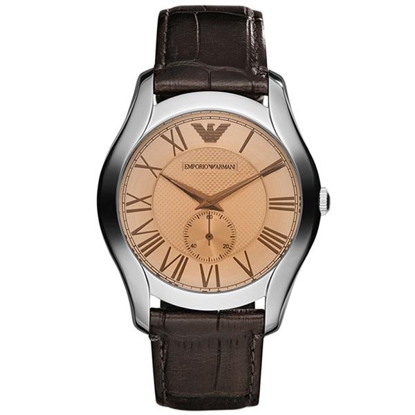 腕時計 プレゼント 20代 30代 40代 50代 <セール&特集> 在庫処分 60代 70代 バースデー お祝い 母の日 就活 研修 ダークブラウン ギフト 男性 景品 AR1704 メンズ 時計 レザー クラシック エンポリオアルマーニ 誕生日 ビジネス