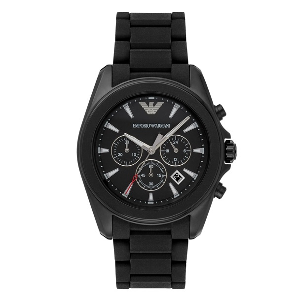 エンポリオアルマーニ 時計 メンズ 腕時計 シグマ ブラック ラバー ステンレス AR6092 ビジネス 男性 ブランド 時計 誕生日 お祝い プレゼント ギフト お洒落