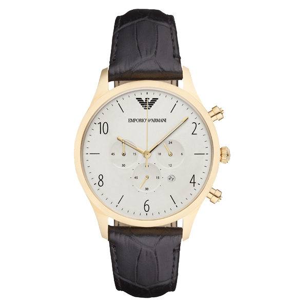 エンポリオアルマーニ 時計 メンズ 腕時計 クロノグラフ ブラック レザー AR1892 ビジネス 男性 ブランド 時計 誕生日 お祝い プレゼント ギフト お洒落
