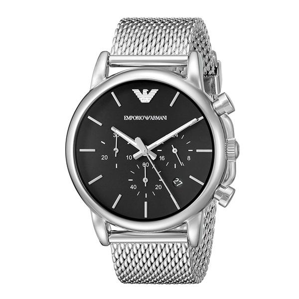 【アウトレット】エンポリオアルマーニ 時計 メンズ 腕時計 クロノグラフ 41mm ブラック文字盤 シルバー AR1811 ビジネス 男性 ブランド 時計 誕生日 お祝い プレゼント ギフト お洒落