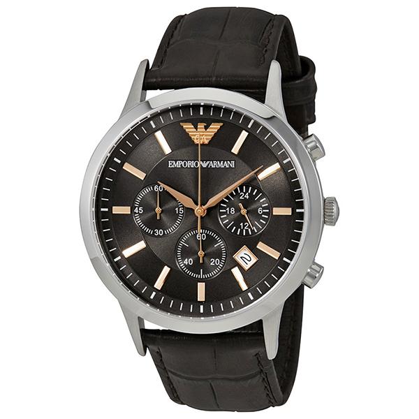 新作 エンポリオアルマーニ 時計 メンズ 腕時計 レナート クロノグラフ ブラウン クロコ レザー AR2513 ビジネス 男性 ブランド 時計 誕生日 お祝い プレゼント ギフト お洒落