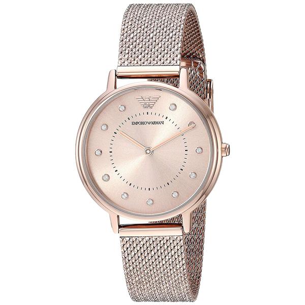 エンポリオアルマーニ 時計 レディース 腕時計 KAPPA カッパ ローズゴールド メッシュ ステンレス AR11129 ビジネス 女性 ブランド 時計 誕生日 お祝い プレゼント ギフト