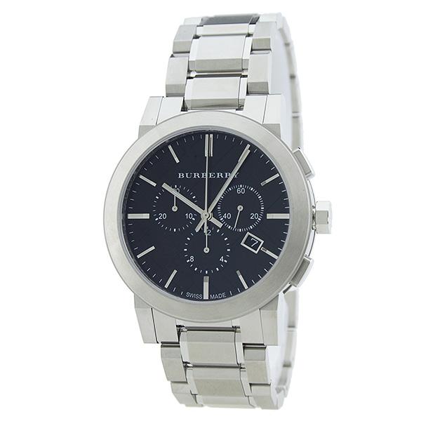 【数量限定】バーバリー 時計 メンズ 腕時計 シティ ブラック シルバー デイカレンダー クロノグラフ ストップウォッチ BU9351 ビジネス 男性 ブランド 誕生日 お祝い プレゼント ギフト お洒落